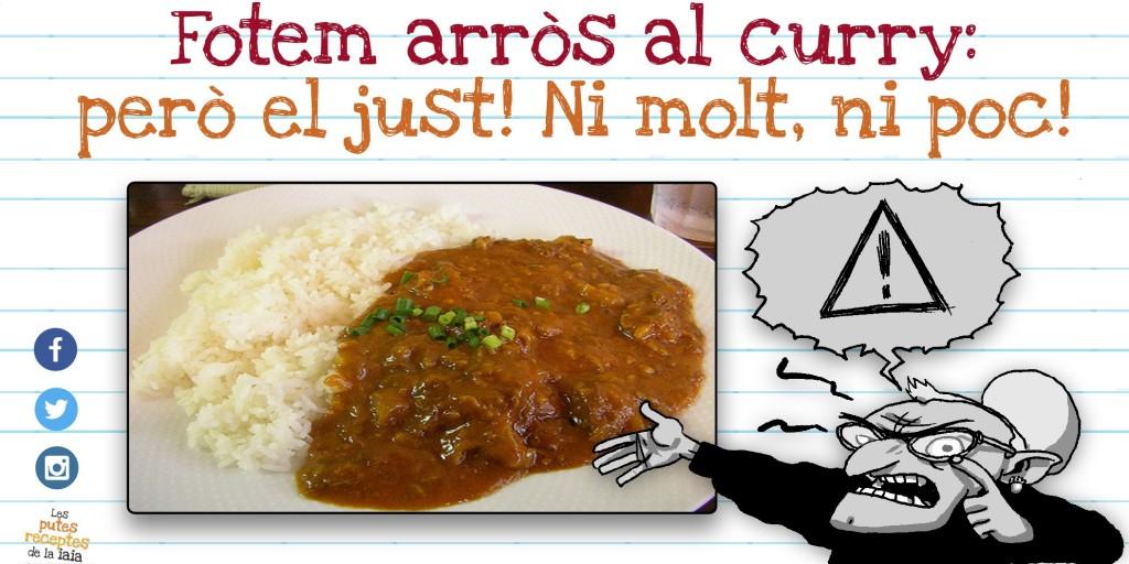 Així et quedarà l'arròs al curry NOMÉS si el fas per separat