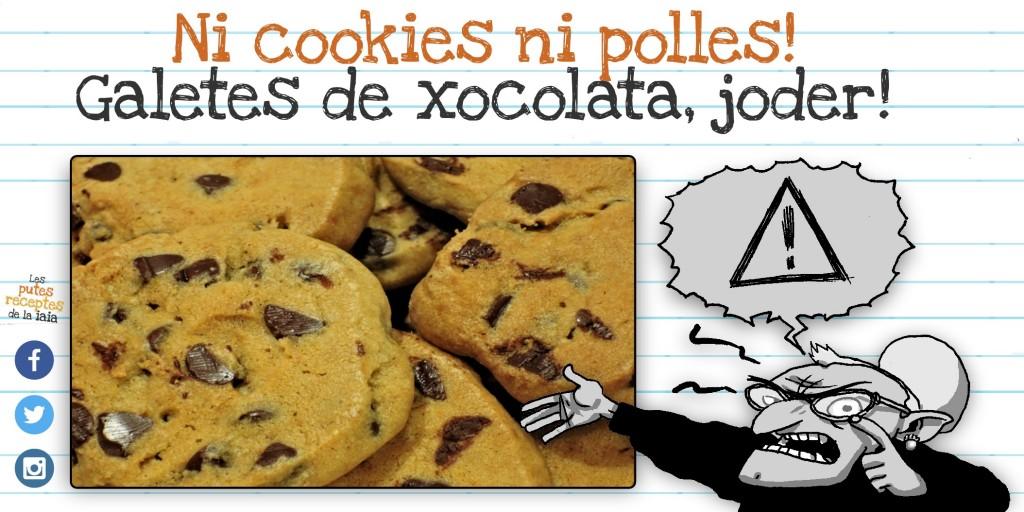 Eh foca, estaràs content: galetes de xocolata!