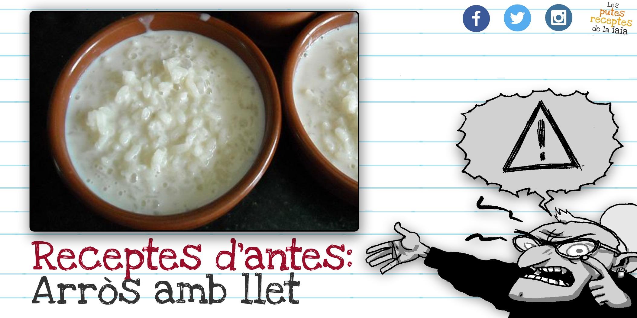 Una puta recepta barata i fàcil: arròs amb llet