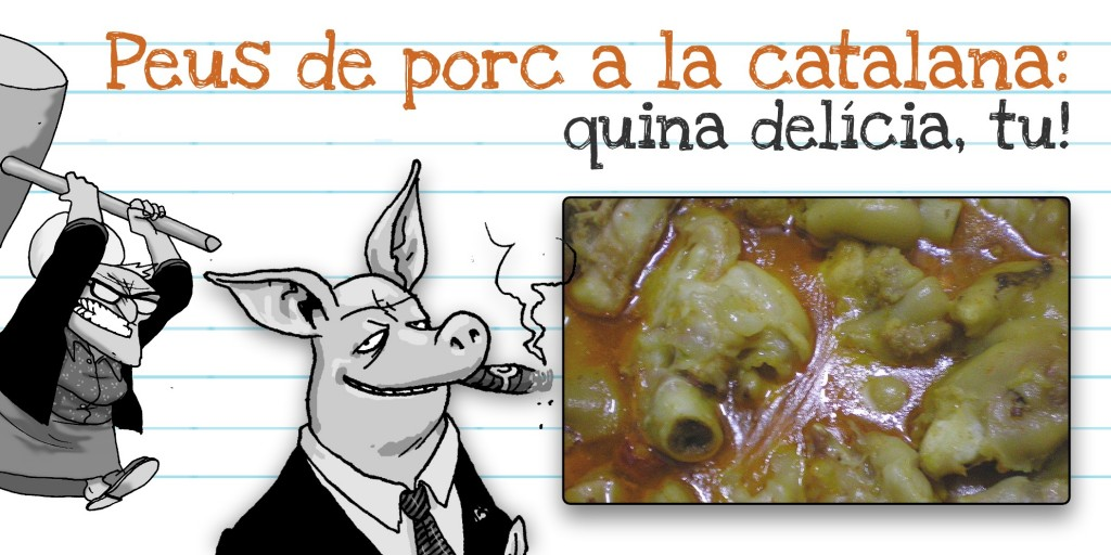 Putos peus de porc ofegats a la catalana