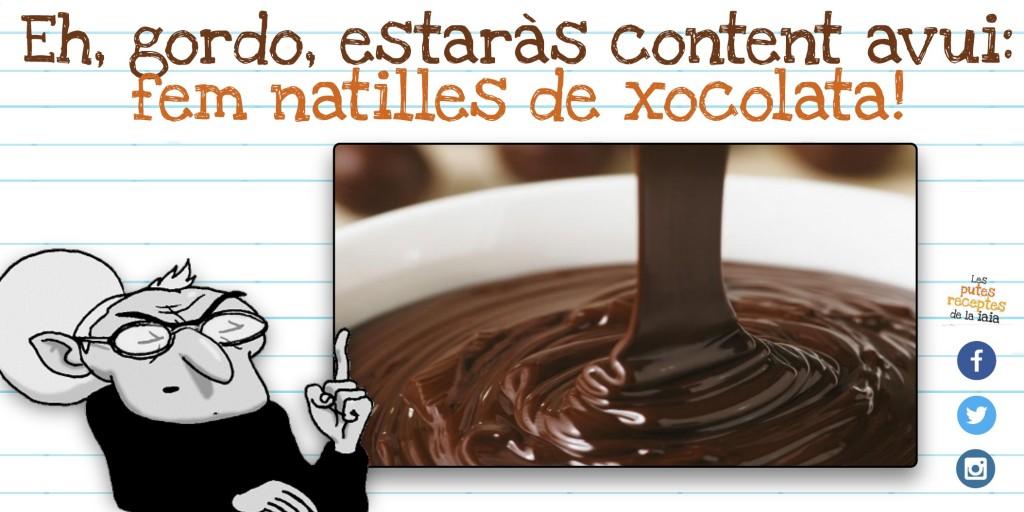 Natilles de xocolata de gordo