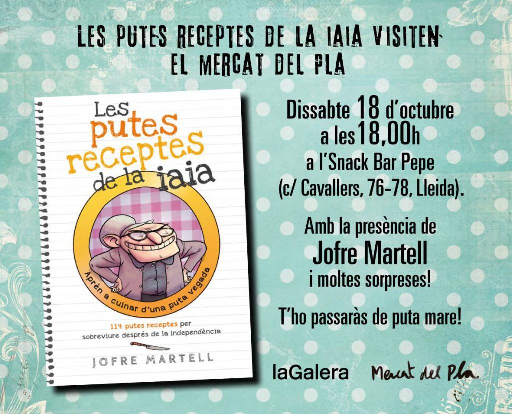 Demà presento el llibre a Lleida