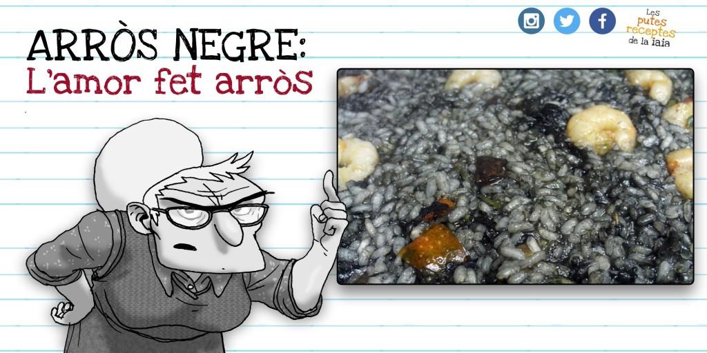 L'arròs negre té un aspecte similar tan quan es menja com quan es caga