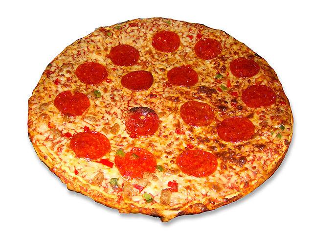 Fotem una pizza pepperoni