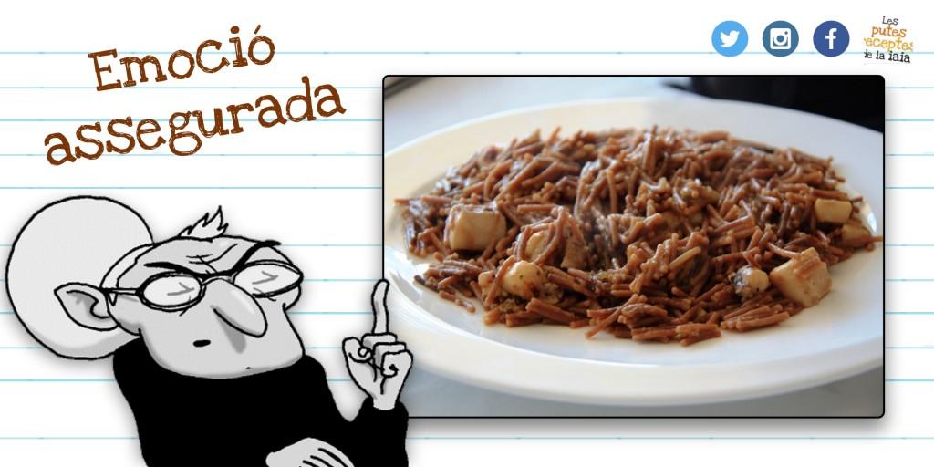 Fideuada, una recepta típica dels veïns del sud