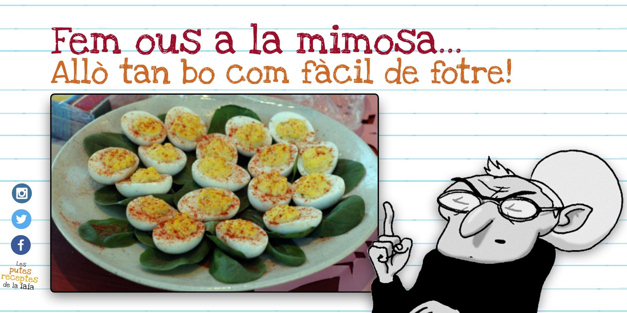 Parim uns ous a la mimosa
