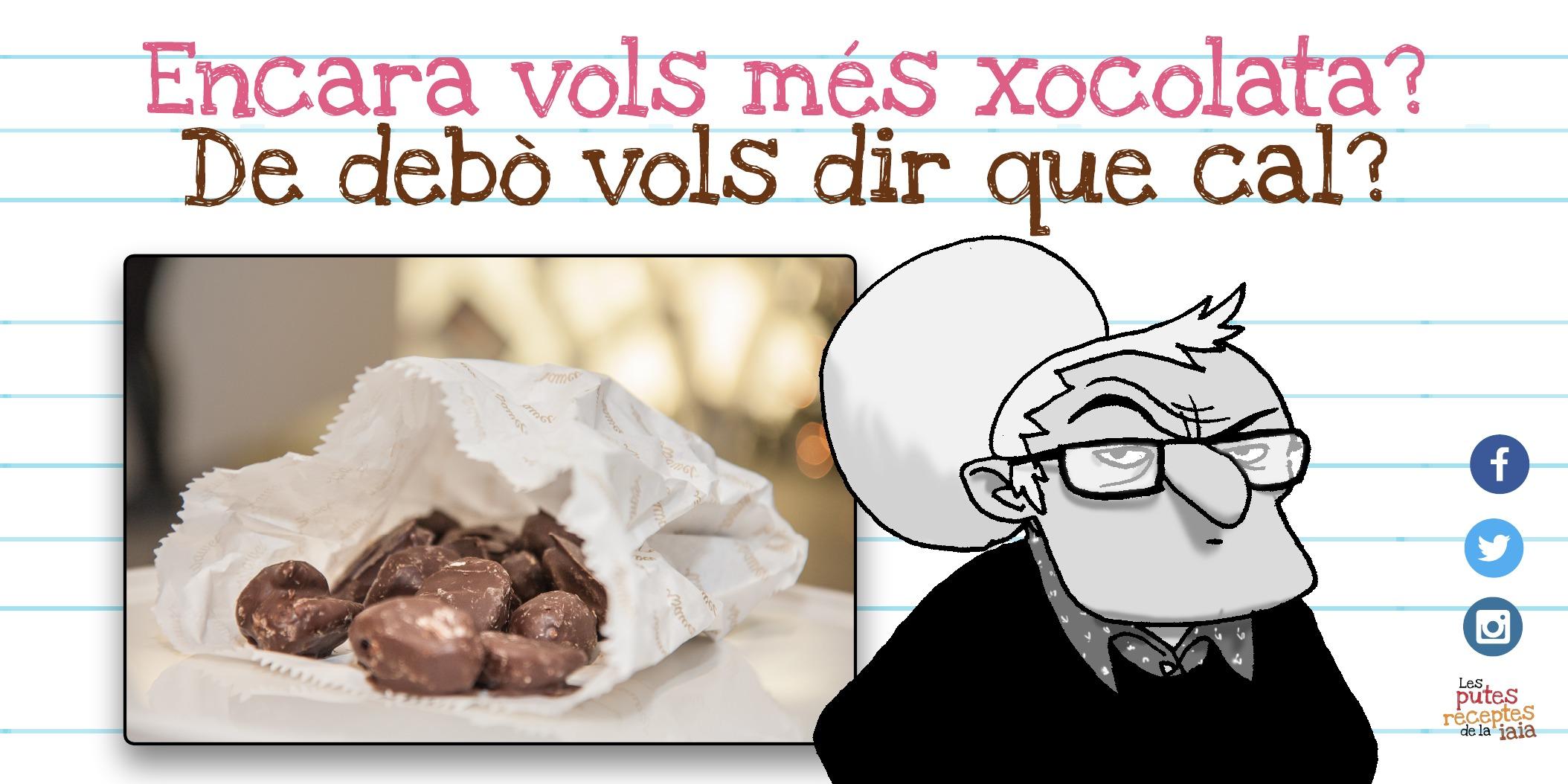 Cruixent de xocolata: la típica cosa que et fa quedar bé