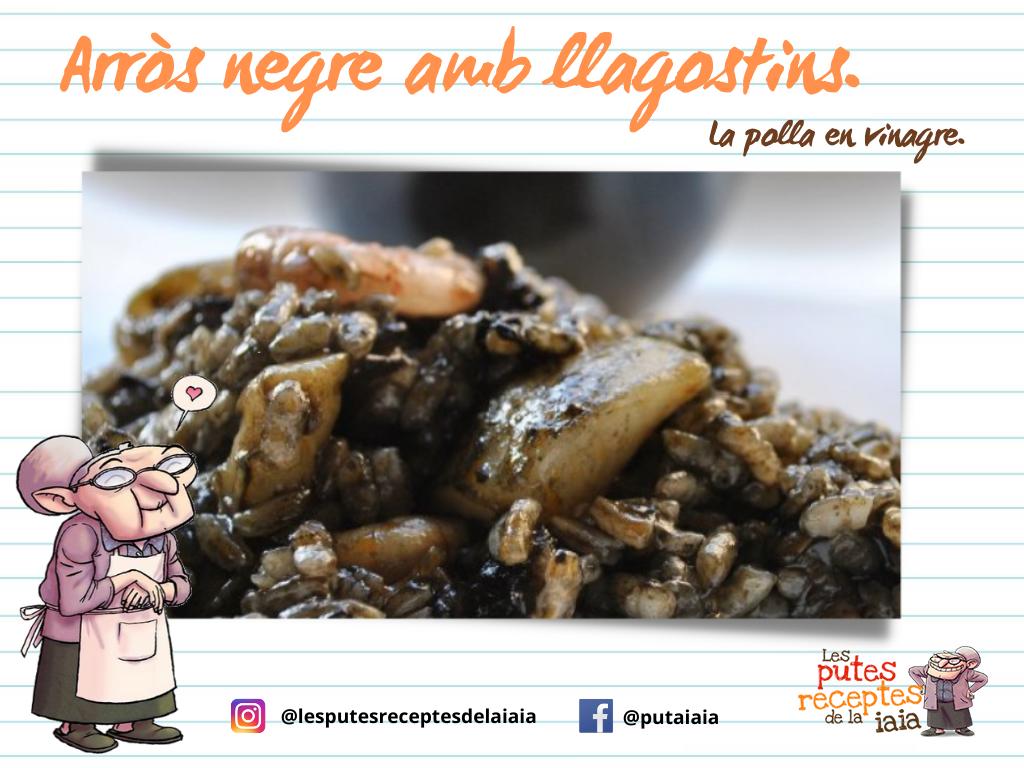 Arròs negre amb llagostins. La polla en vinagre. (1)